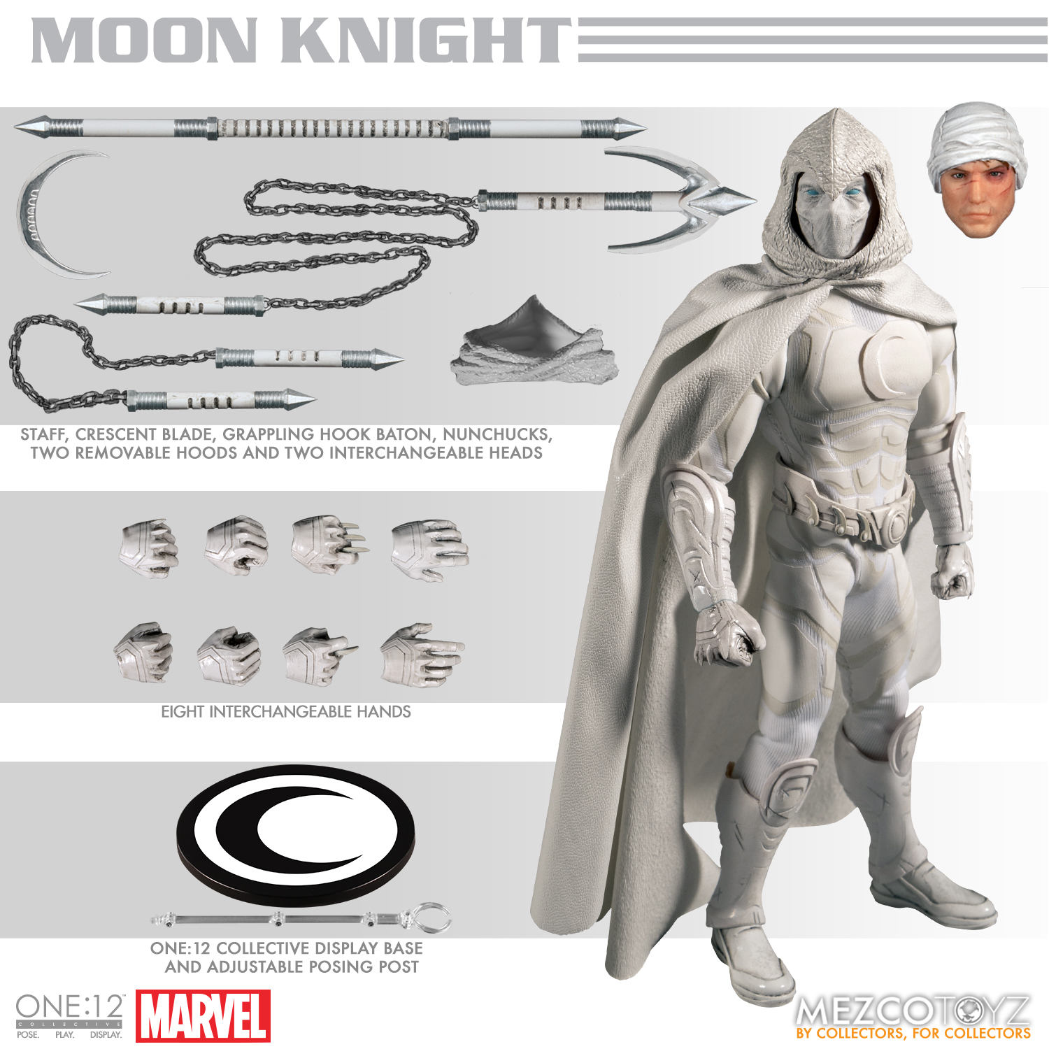 "Mezco One:12 collettivo Marvel Moon Knight 6/"" Action Figure"