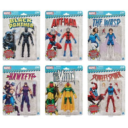 Marvel Legends Marvel Super Heroes Vintage Card Wave 2 Lot of 6 Figures
