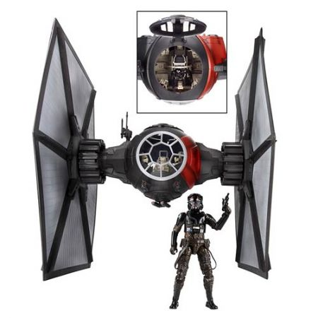 * Pre Order * Star Wars The Force Awakens The Black Series Deluxe First Order TIE Fighter Vehicle with Pilot