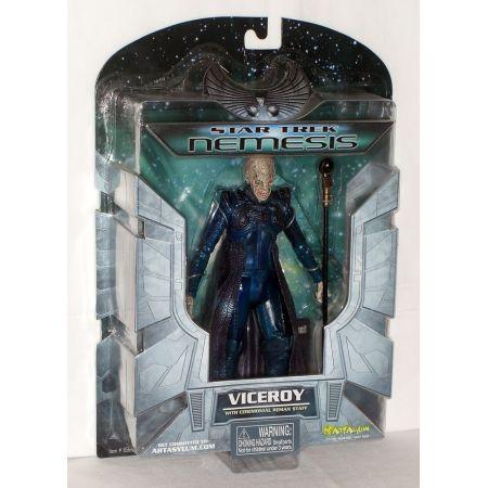 Star Trek Nemesis Viceroy with Ceremonial Reman Staff figurine 7 po Art Asylum 85600