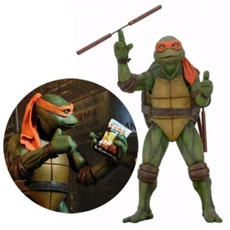 Teenage Mutant Ninja Turtles 1990 Movie Michelangelo figurine échelle 1:4 NECA