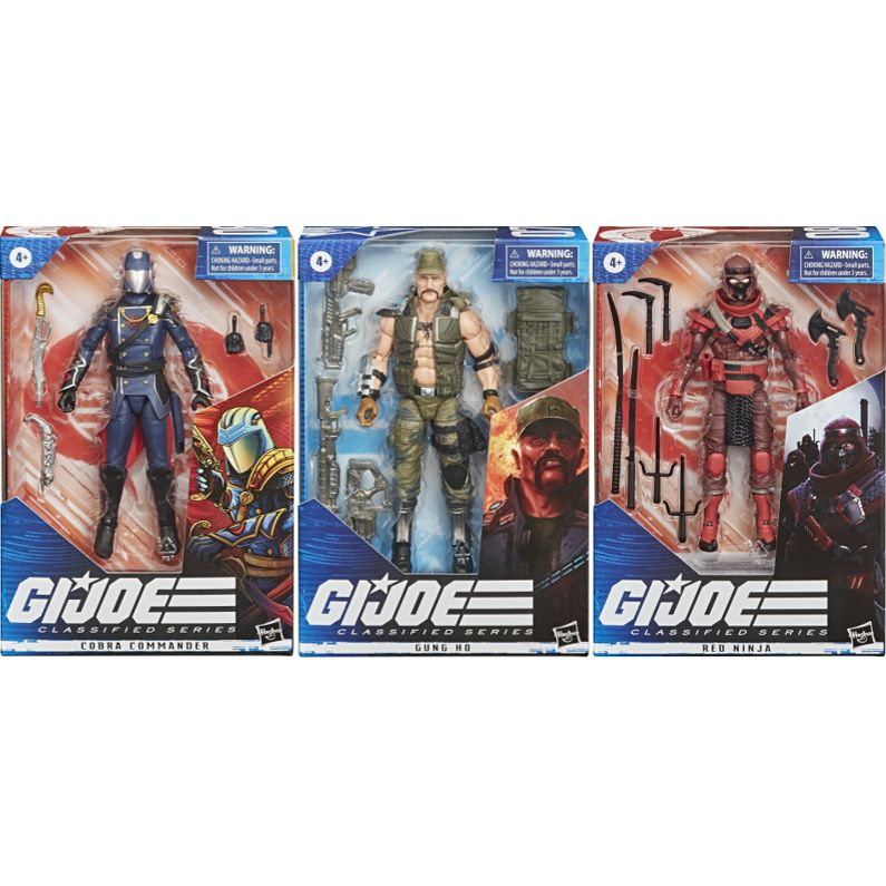 "GI Joe Classified Series WAVE 2 Set 6"" NEW COBRA COMMANDER GUNG HO /& RED NINJA"