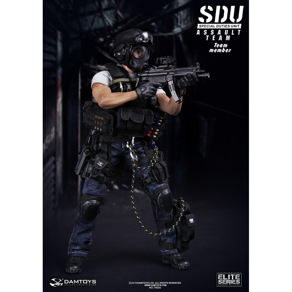 SDU Special Duties Unit Assault Team Elite Series Modern Military figurine  12 po Dam Toys 78026